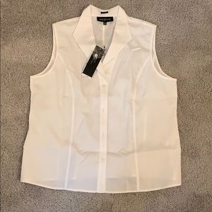 Jones New York sleeveless dress shirt